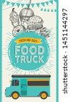fast food illustrations  burger ... | Shutterstock .eps vector #1451144297