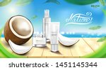 luxury cosmetic bottle package... | Shutterstock .eps vector #1451145344