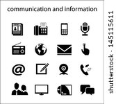 communication and information | Shutterstock .eps vector #145115611
