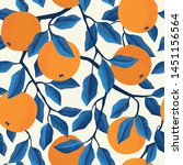 tropical seamless pattern with... | Shutterstock .eps vector #1451156564
