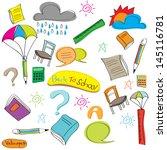 drawing school items  vector