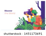 discover the world.travel... | Shutterstock .eps vector #1451173691