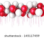 Color Flying Balloons Isolated...