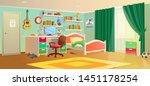 cozy interior of children's...   Shutterstock .eps vector #1451178254