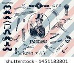 hand drawn hairdressers...   Shutterstock .eps vector #1451183801