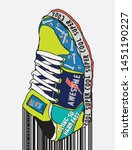 typography slogan skateboard... | Shutterstock .eps vector #1451190227