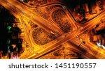 aerial drone slow shutter night ... | Shutterstock . vector #1451190557