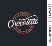 chocolate hand written...   Shutterstock .eps vector #1451191517