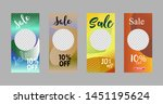 template of stories sale banner ... | Shutterstock .eps vector #1451195624