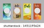 template of stories sale banner ... | Shutterstock .eps vector #1451195624