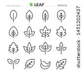 leaf outline icon set... | Shutterstock .eps vector #1451202437