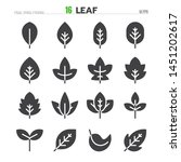 leaf solid glyph icon set... | Shutterstock .eps vector #1451202617
