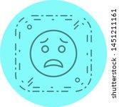 scared emoji icon in trendy... | Shutterstock .eps vector #1451211161