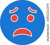 scared emoji icon in trendy... | Shutterstock .eps vector #1451211374