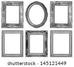 the antique frame on the white... | Shutterstock . vector #145121449