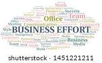 business effort word cloud.... | Shutterstock .eps vector #1451221211