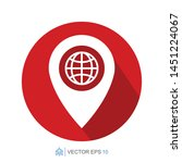 pin location flat icon template ...