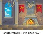 castle interior theme...   Shutterstock .eps vector #1451235767