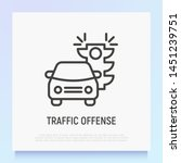 Traffic Offence Thin Line Icon  ...