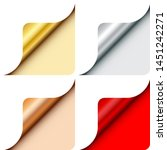 four round corners metallic... | Shutterstock .eps vector #1451242271