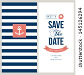 wedding invitation card. save... | Shutterstock .eps vector #145126294