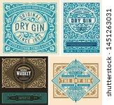 set of liquor labes. vector...   Shutterstock .eps vector #1451263031