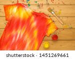 yellow and red paint and a tie... | Shutterstock . vector #1451269661