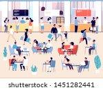 people in restaurant. men and... | Shutterstock .eps vector #1451282441