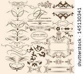 vector set of calligraphic... | Shutterstock .eps vector #145130341