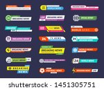 breaking news. broadcasting... | Shutterstock .eps vector #1451305751