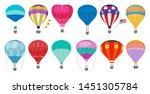 hot air balloon. romantic... | Shutterstock .eps vector #1451305784