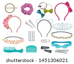 hair accessories. woman hair... | Shutterstock .eps vector #1451306021