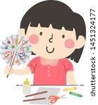 illustration of a kid girl... | Shutterstock .eps vector #1451324177
