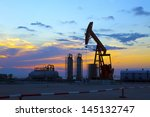 oil pumps. oil industry... | Shutterstock . vector #145132747