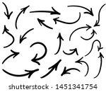 hand drawn arrow set  vector... | Shutterstock .eps vector #1451341754