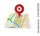 location icon vector. pin sign... | Shutterstock .eps vector #1451362181