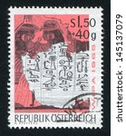 austria   circa 1965  stamp...   Shutterstock . vector #145137079