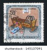 austria   circa 1994  stamp... | Shutterstock . vector #145137091