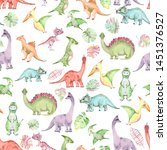 Seamless Pattern From Cute Hand ...