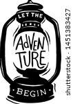 let the adventure begin vintage ... | Shutterstock .eps vector #1451383427