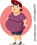 curvy plus size overweight... | Shutterstock .eps vector #1451384297