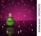 glamourous christmas... | Shutterstock . vector #145140151