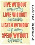 vintage typography vector... | Shutterstock .eps vector #145140445