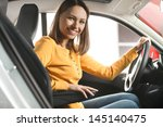 join me for a drive. attractive ... | Shutterstock . vector #145140475