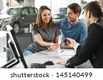 now her dream comes true. car... | Shutterstock . vector #145140499