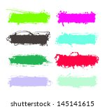 set of grunge elements  banners ... | Shutterstock .eps vector #145141615