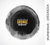 brush stroke circle texture for ... | Shutterstock .eps vector #145143214