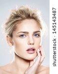 close up portrait of beautiful... | Shutterstock . vector #145143487