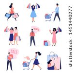 collection of people with... | Shutterstock .eps vector #1451440277