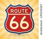 vintage route 66 symbol | Shutterstock .eps vector #145144267